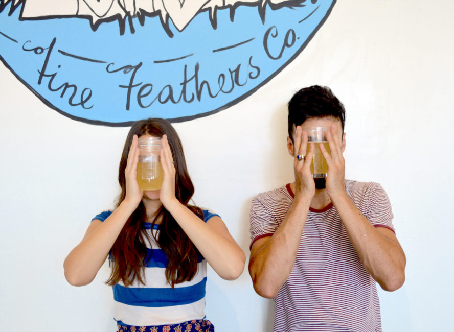 Fine Feathers Kombucha Co. Long Beach, California. Local. Made with Love.